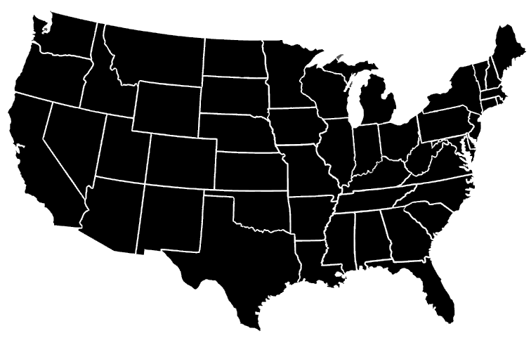 USA Map Highlight all states