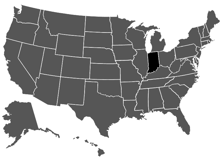 Indiana Med Pay Subrogation Statute Law Firm Keis George LLP - Indiana on map of usa